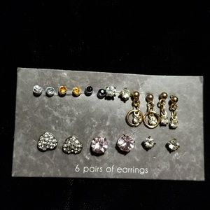 BUNDLE ONLY  9 pairs of small earrings